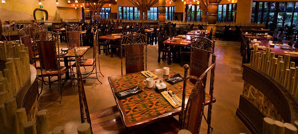 animal kingdom villas dining saloon postcard animal kingdom villas