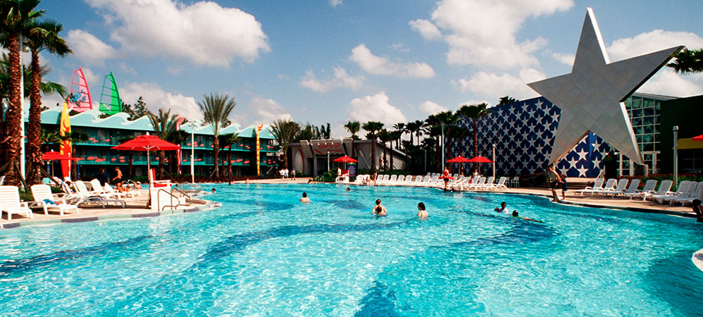 All star sports resort pool picture all star sports for Sport pools pictures