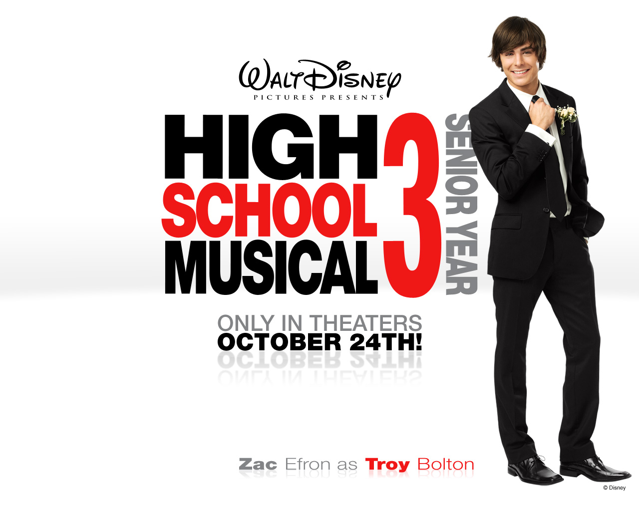 Zac Efron in High School Musical 3- Senior Year Wallpaper