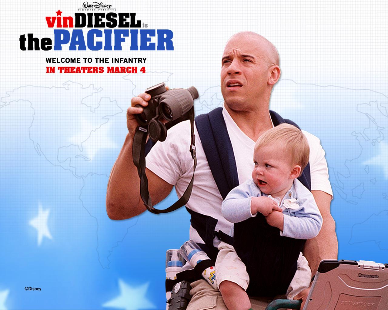 Disney The Pacifier Vin Diesel postcard, Disney The Pacifier Vin ...