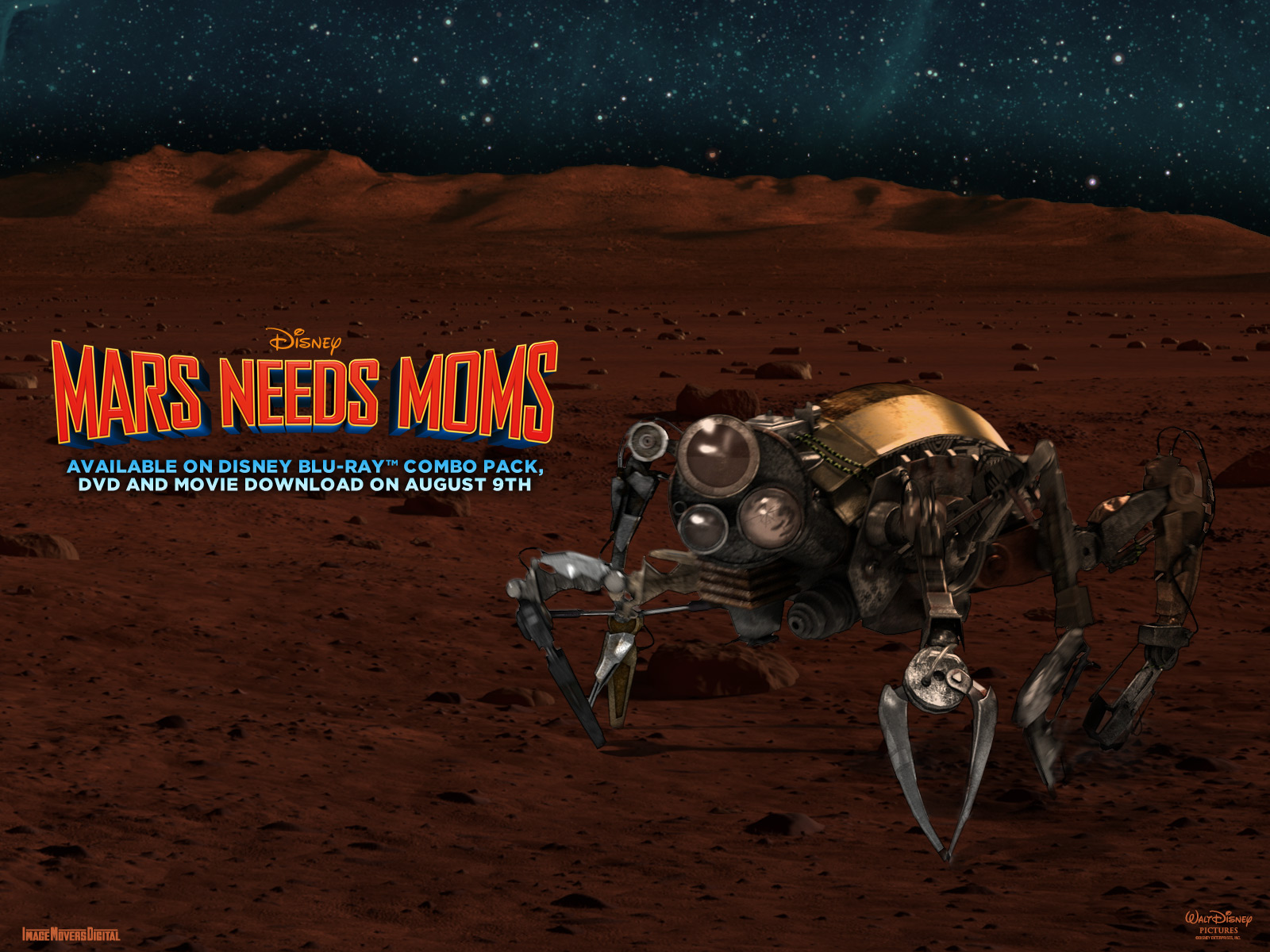 disney mars needs moms wallpaper 1600
