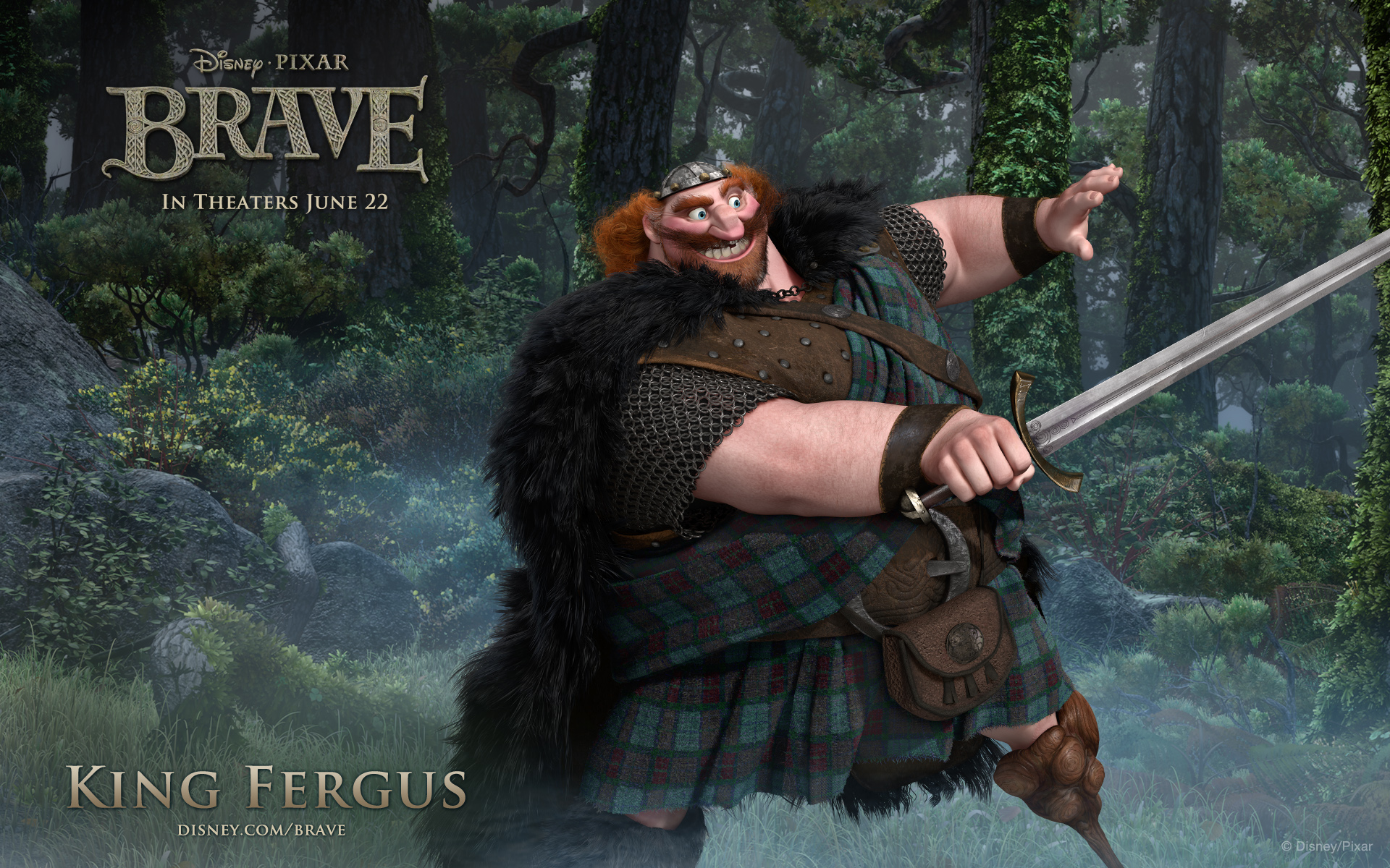 Brave King Fergus widescreen